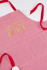 red/white stripe adult apron final sale