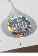scratch off gender reveal card - girl FINAL SALE