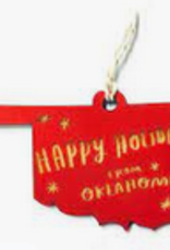 holidays from oklahoma ornament FINAL SALE