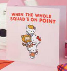 on point hello kitty card final sale