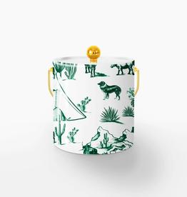 marfa toile ice bucket - hunter