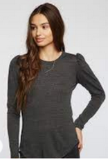 chaser triblend puff sleeve crew neck tee final sale