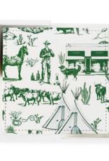 marfa toile coaster set of 6 - hunter