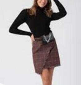 joanna assymetrical tweed mini skirt final sale