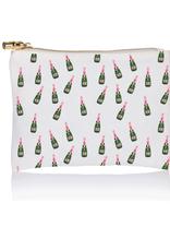 champagne art zip pouch