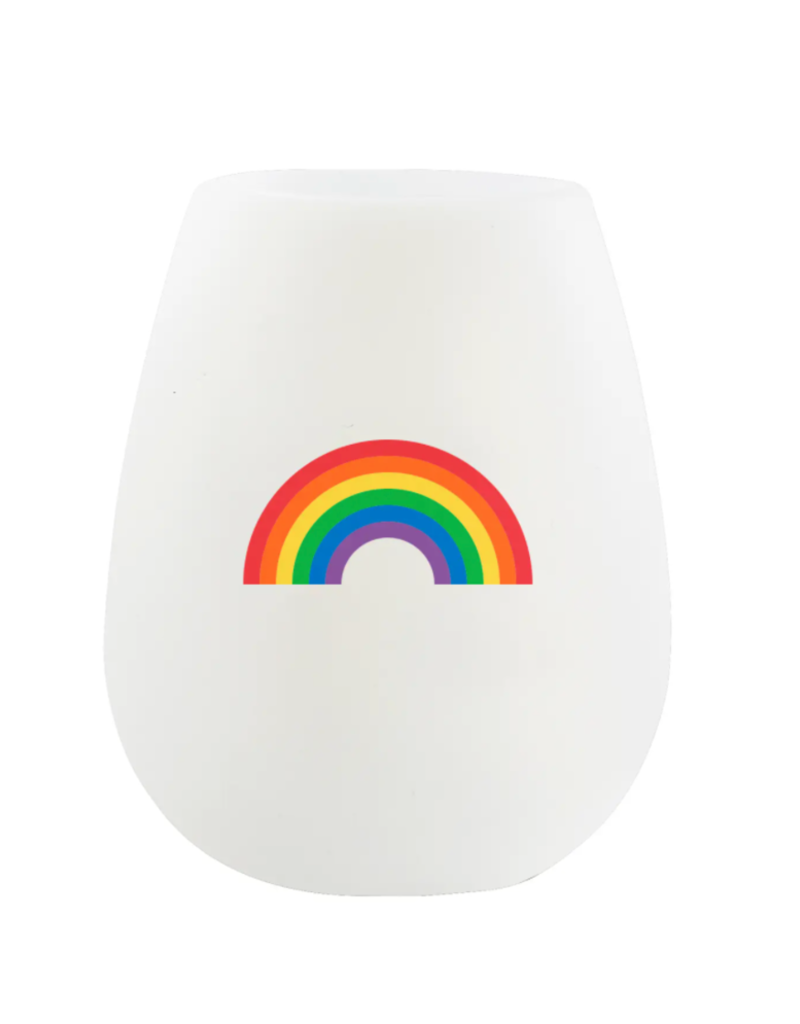 rainbow silicone wine cup 12.5oz
