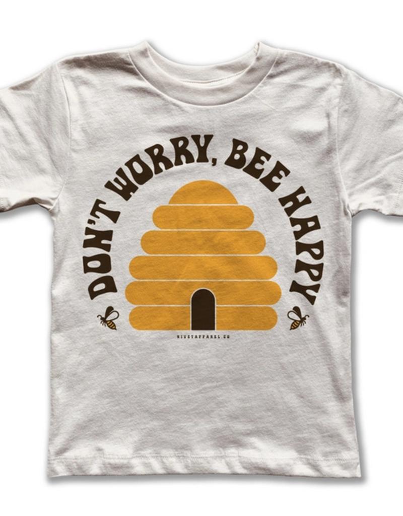 rivet apparel kids bee happy tee