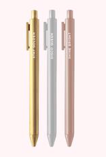 jotter colored pen set of 3