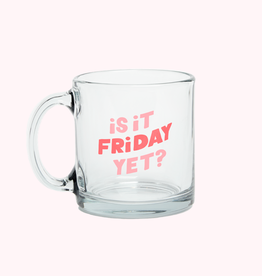 Talking out of Turn clear glass mug