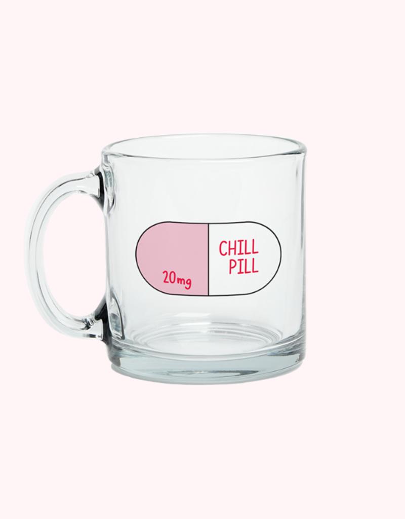 clear glass mug