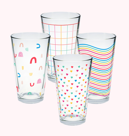 Talking out of Turn every day pint glass set