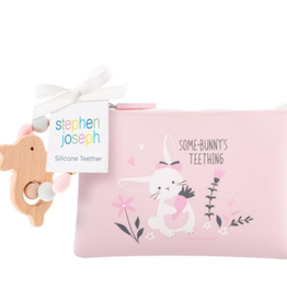 silicone teether & pouch