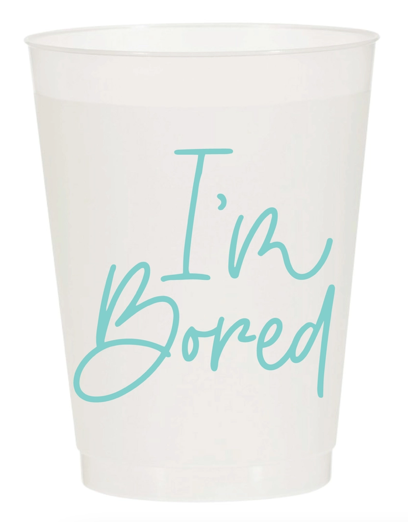Sip Sip Hooray i'm bored cup stack 10