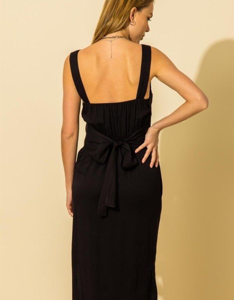dash button down sleeveless dress