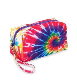kids tie dye cosmetic bag