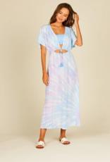 tulum tie dye ruffle maxi dress