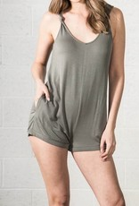 very j erin scoop knotted strap romper