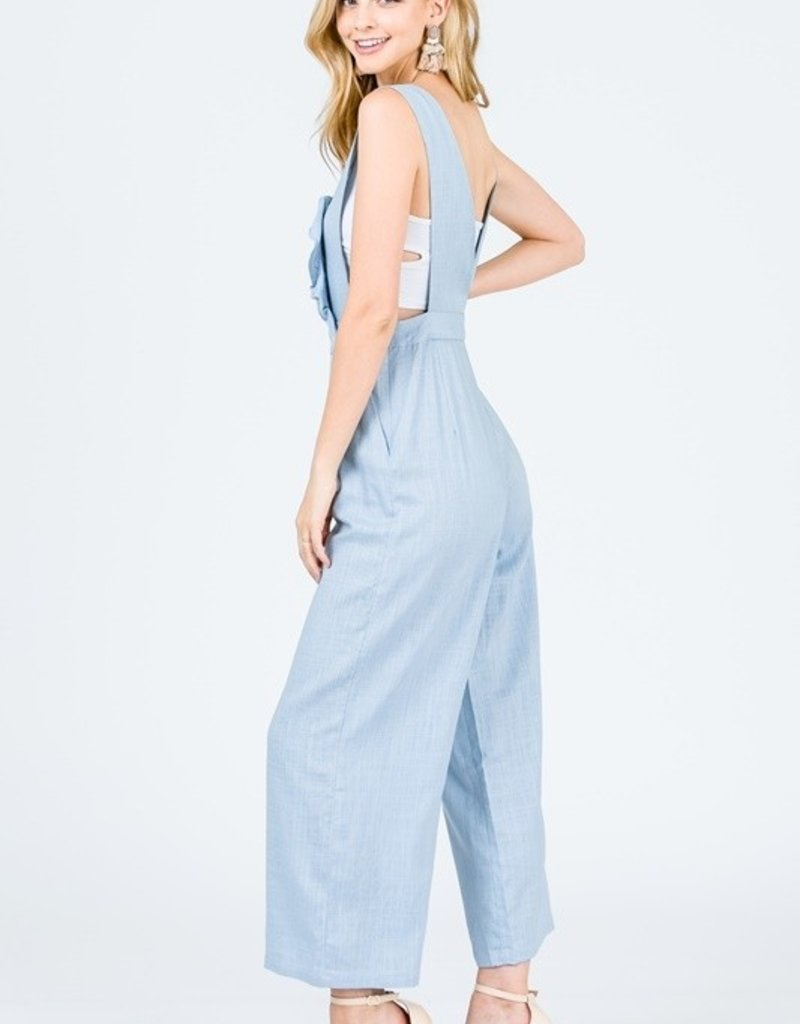 open back overall jumpsuit