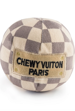 checker chewy vuiton ball dog toy - large