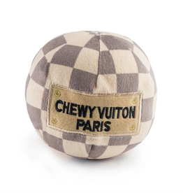 Haute Diggity Dog checker chewy vuiton ball dog toy - large