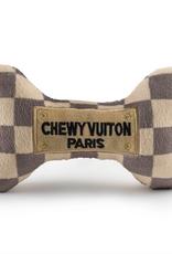 checker chewy vuiton bone dog toy - large