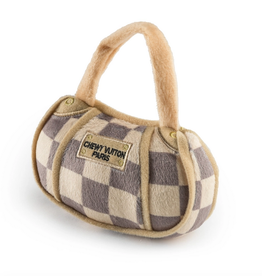 Haute Diggity Dog checker chewy vuiton handbag dog toy - small