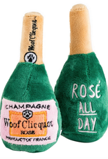 Haute Diggity Dog woof clicquot rose bottle dog toy - small