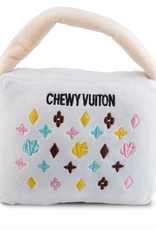 white chewy vuiton purse dog toy - x large