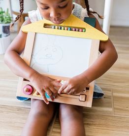 house magic wooden drawing board - dog