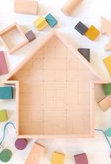 tsumiki wooden building blocks house