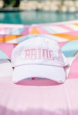 bride distressed hat