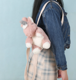 plushie unicorn backpack - blush