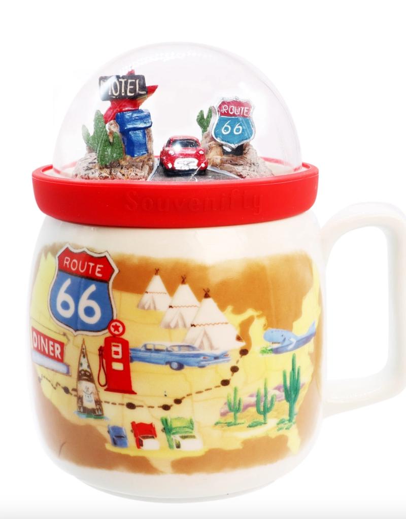 route 66 globe mug