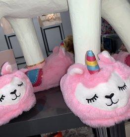 kids llama slipper