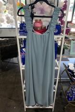 meli billowy dress with bow back