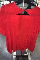 giselle flutter sleeve open back top