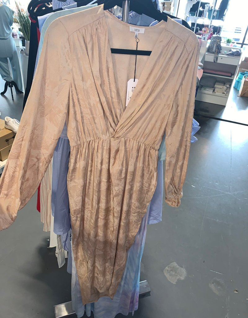 mina twist front wrap dress
