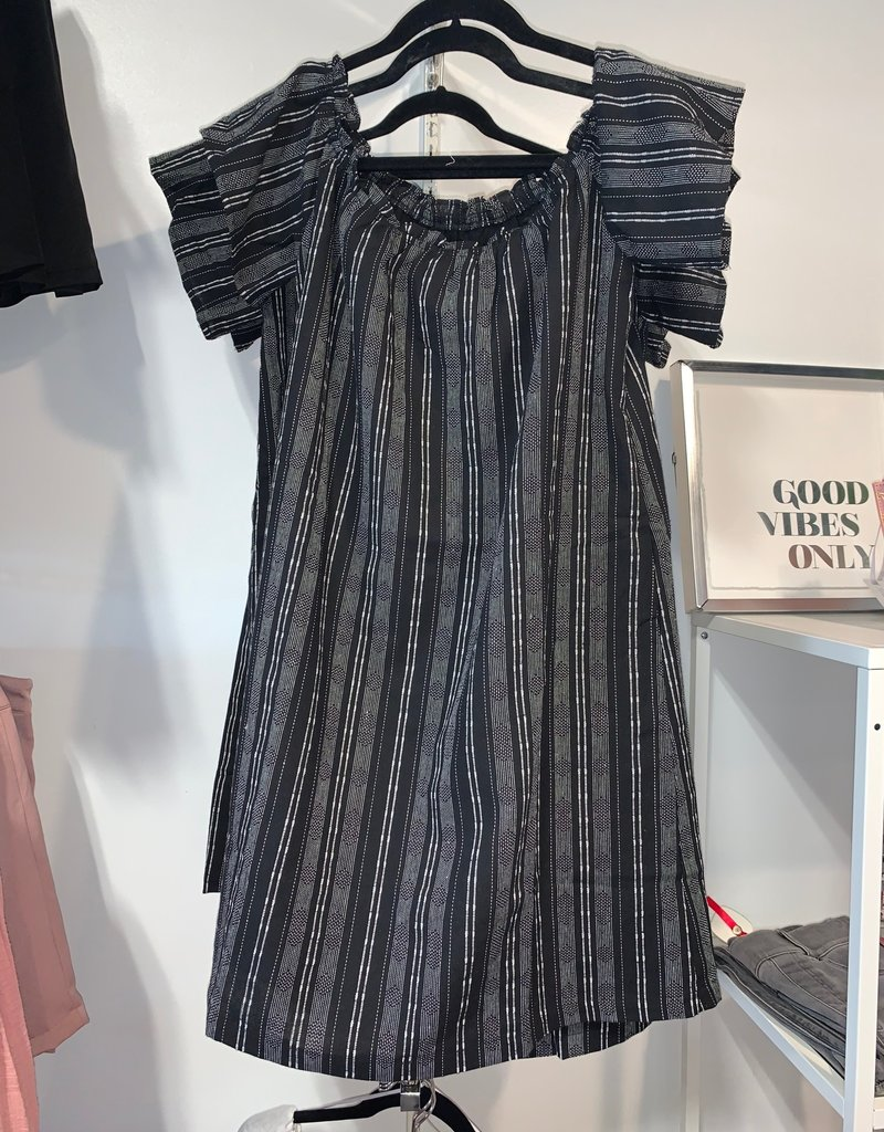 cedella off shoulder babydoll dress