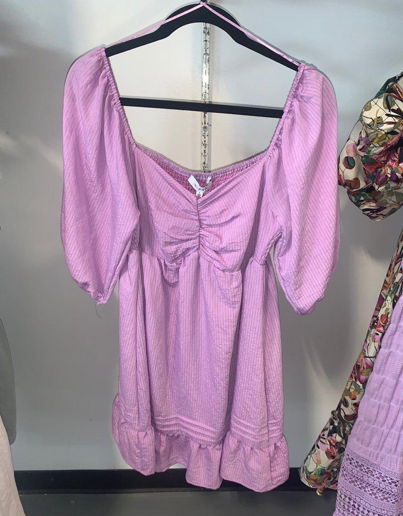 pintuck mini dress