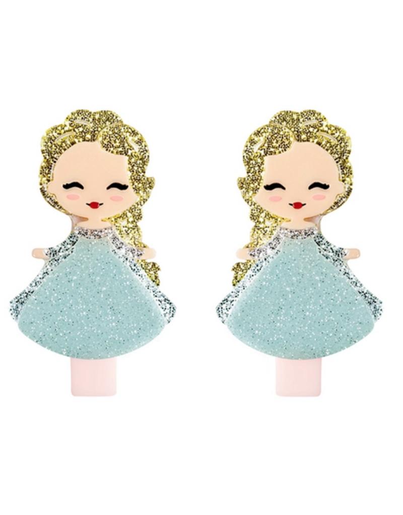 kids princess hair clip set
