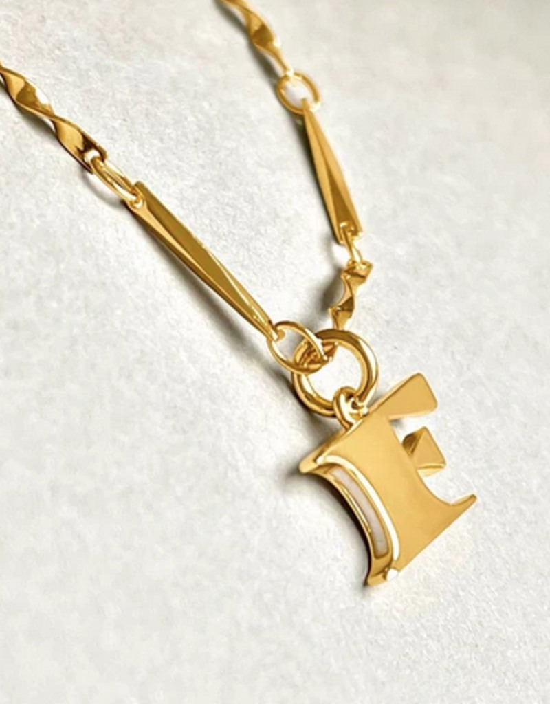 gold dipped letter necklace