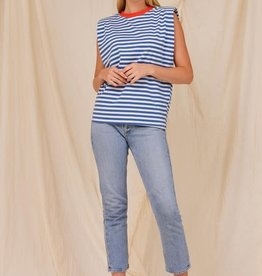 beck striped padded muscle tee