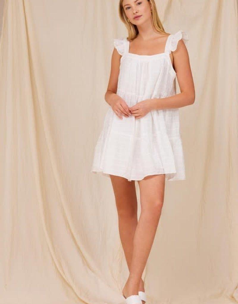 plaid tiered babydoll dress