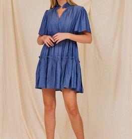 beth tiered mini dress