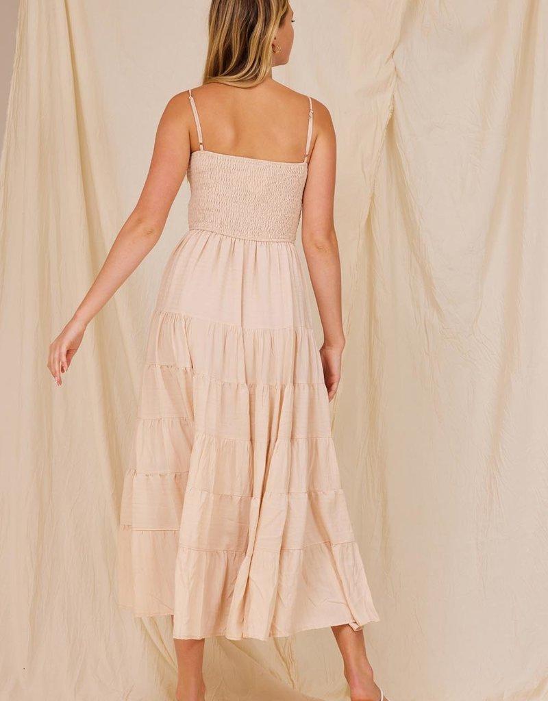 bay tiered maxi dress
