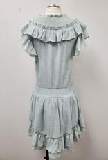 flutter sleeve smocked dress