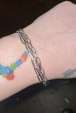 chain link layered bracelet
