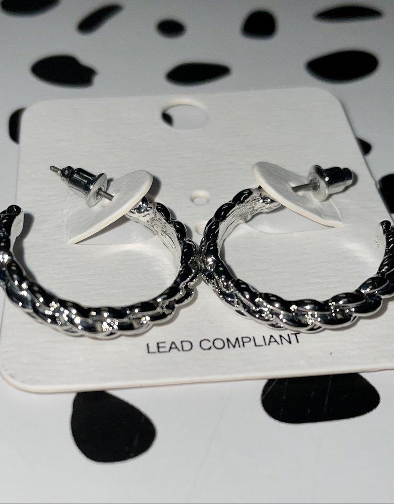 silver braided hoops