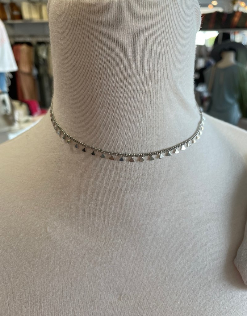 silver triangles necklace