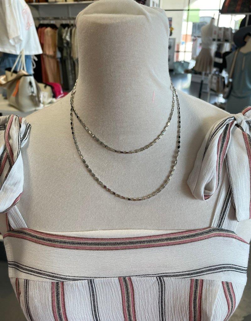 silver wrap-around necklace